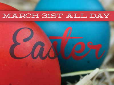 Easter Menu easter eggs bunny chocolate holiday pink blue hues serifs sans serif