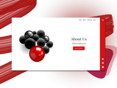 Minimal About Us Page molecules gradient graphic design landing page minimalism modern design minimalist minimal webdesign website branding ui photoshop design designer ui design dailyui creative dribble shot dribbleartist