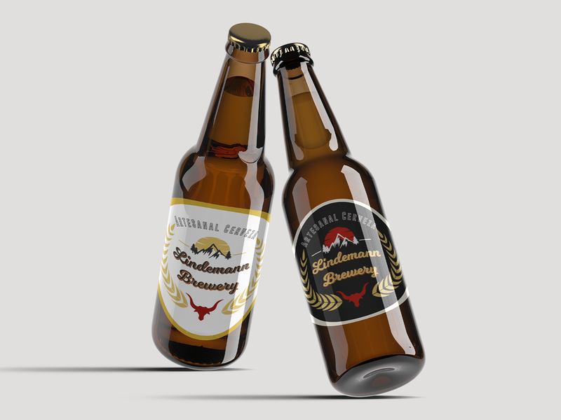 Lindemann Brewery Logo brand beer branding brewery illustrator illustration designinspirations inspiration logo design logo graphic vector dribbble branding photoshop design designer creative dribble shot dribbleartist