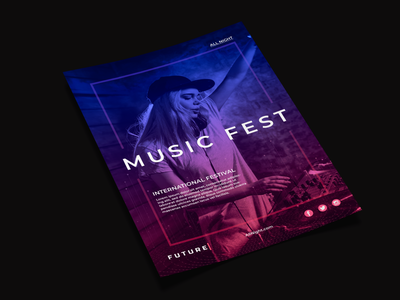 Music Poster gradient poster design dribbble photoshop designer dailyui creative dribble shot dribbleartist