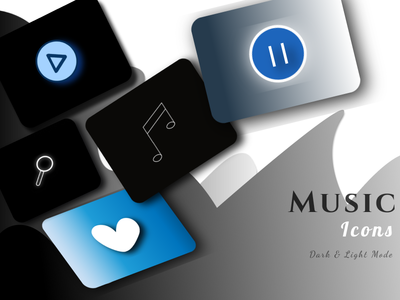 Dark & Light Mode Music Icons