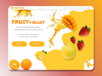 Buy and Sell Fruit Web Page Design