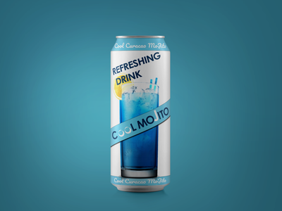 Refreshing Drink typogaphy mojito can dribbble shot dribbble blue creative colorful branding ui photoshop design dailyui