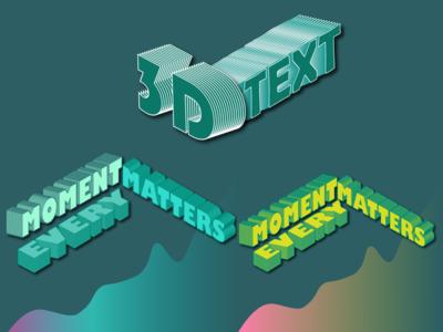 3D Gradient Text