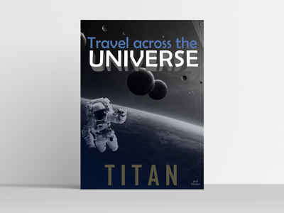 Space Travel Poster poster art black and white typo poster design space poster designer creative dailyui ui design dribble shot dribbleartist