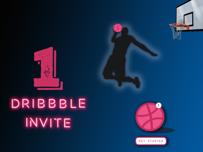 Dribbble Invite dribbble invites invites reviews dribbble player invitation invite giveaway dribbble invite ui typography illustration vector dribbleartist ui design creative designer dailyui dribble shot