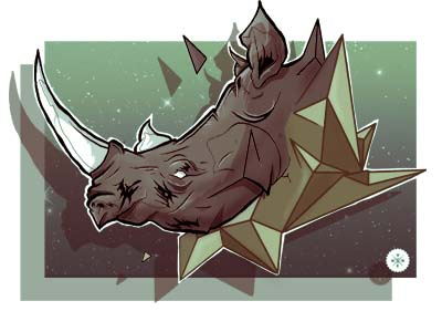 Diamond rhino dribbble