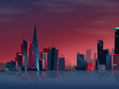 The city is beautiful background image background art vector