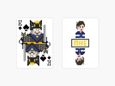 Pixel x Bicyle Cats & Dogs Playing Card