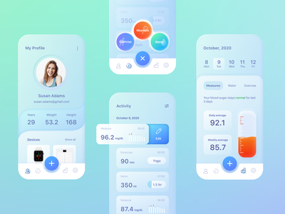 Diabetes lifestyle tracker app health app uiux ui mobile tracker diabetes healthcare