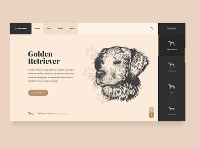 UI Design - Dog Breeds Website Design website concept dog website landing page ux design ui design webdesig website