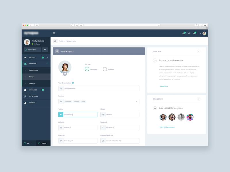 UI Design - User Dashboard Design