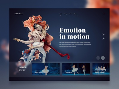 UI Design - Ballet Stories dancers dancer webdesign ui designers ui ux bolshoi ballet website design creative inspiration design trends ui design landing page website ux design ui design