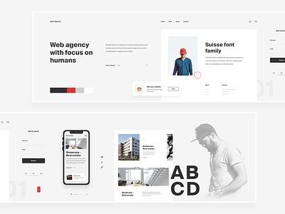 Website Stylescape For Design Agency - Nordic Minimalist branding website design design trends creative inspiration ui website ux design ui design clean stylish web stylescape stylescape
