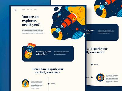 UI Design - Daily UI Challenge graphic design website design illustration ui ux ui design website concept landing page inspiration website ux design ui design