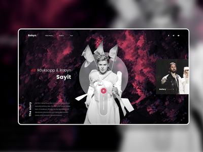 H&M Music - Royksopp & Robyn - Sayit - UI Design web design musician music video graphic design ui ux website concept creative landing page inspiration website ux design ui design