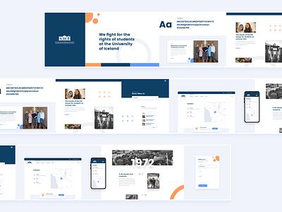 Stylescape For Student Council Website ui ux creative inspiration design trends design web design website ux design ui design styleguide stylescape