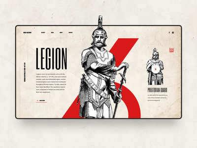 Roman Legion - UI Design web trends website design webdesign ui ux inspiration graphic design website concept ui creative landing page website ux design ui design