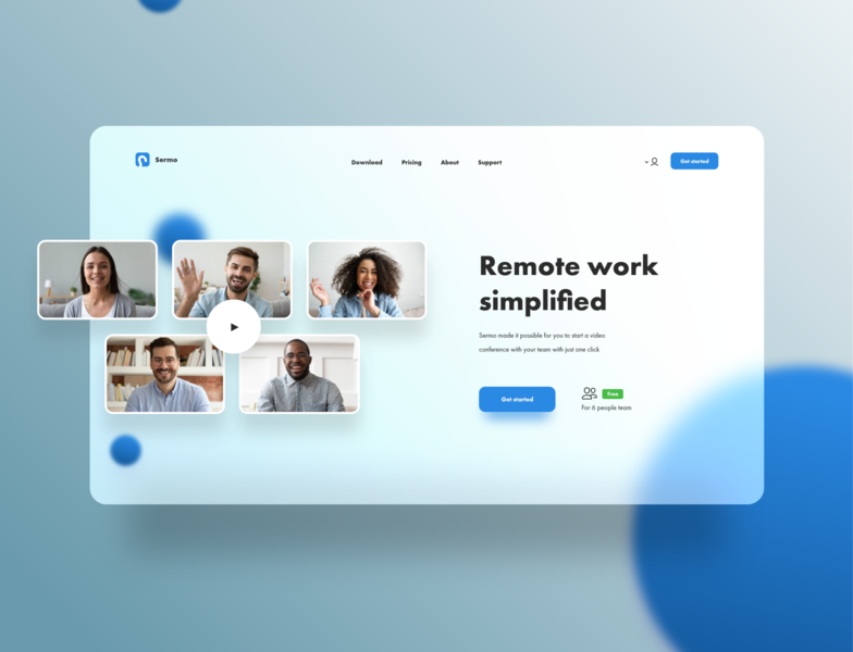 Video Conference App - Website Design conference room remotework website design ui ux ui design trends landing page creative inspiration website ux design ui design