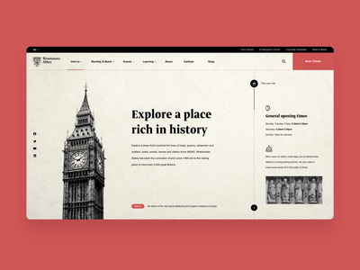 Westminster Abbey - Website Redesign website design web design graphic design ui ui ux landing page inspiration website ux design ui design