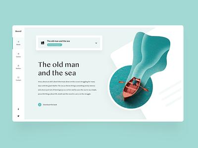 Boord - Online Bookstore web design illustration design ui creative landing page website inspiration ux design ui design