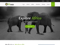 Wild Life a Animal Category Web Template