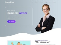 Consulting Website Template for Your Business Efficiency