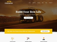 Website template for construction business