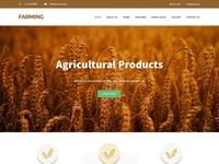 Agriculture website design template