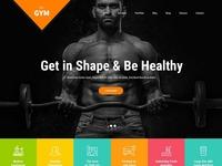 Professional Gym Website Design & Template
