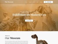 Museum Website Design template