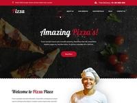 Restaurant, Fast Food, Takeaway Pizza Website Template