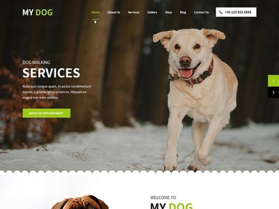 Best Pet Website template