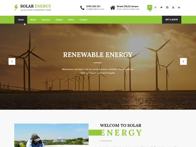 Green Solar & Renewable Energy Pre-Build Website