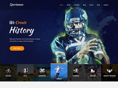 Sport & Recreation Website Template