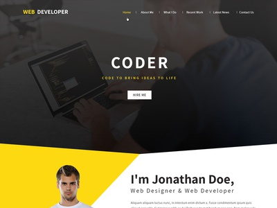 Web Developer Website Template