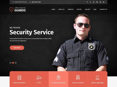 Security Guard Agency Website Template
