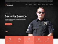 Security Guard Agency Website Template