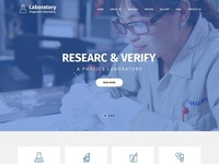 Laboratory Website Design for Science Lab & Medical Lab
