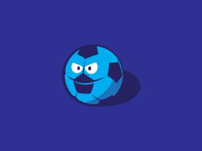 Barclays Football character shadow football futball ball