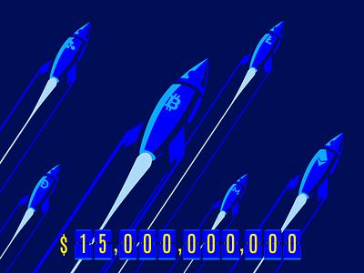 To the moon! rockets dogecoin dash ripple monero litecoin ethereum bitcoin btc