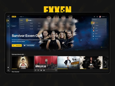 Exxen Website Redesign glassmorphism user experience user interface design ux ui website redesign concept exxen