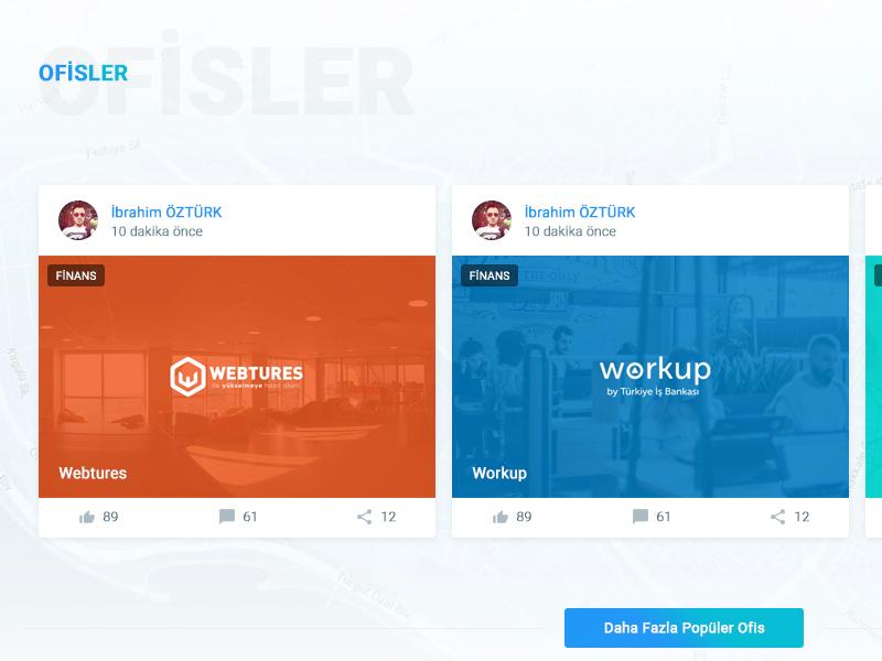 Girişimci Kafası - Offices wordpress backend frontent ux ui platform entrepreneur