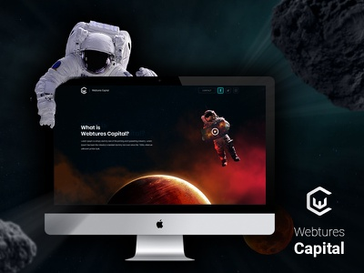 Webtures Capital rpg user interface user experience ux ui space shadow statistics parallax astronaut capital webtures