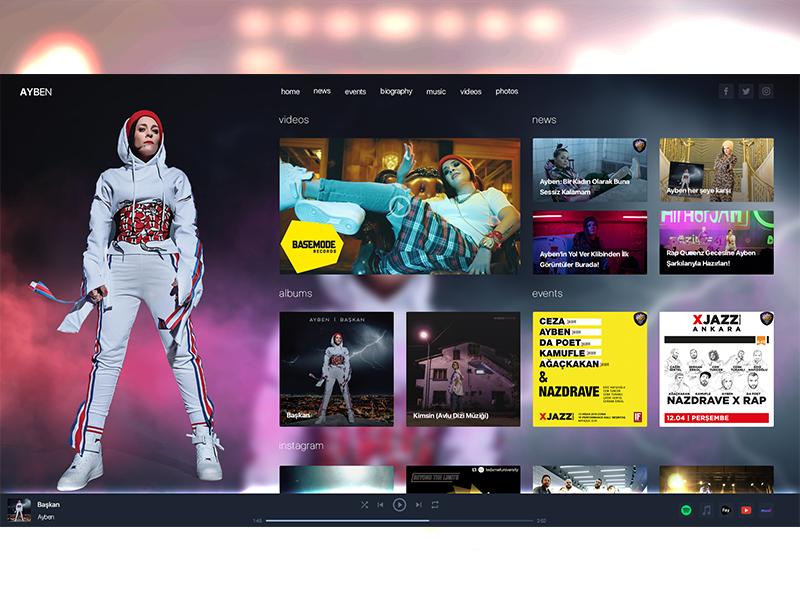 Animated concept website design aftereffects photoshop superhero freelance ux ui design website concept animation animated queen rap