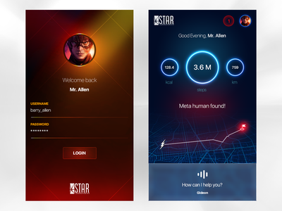 Login Challenge UI - Star Labs Mobile Application challenge ux ui login application mobile labs star flash