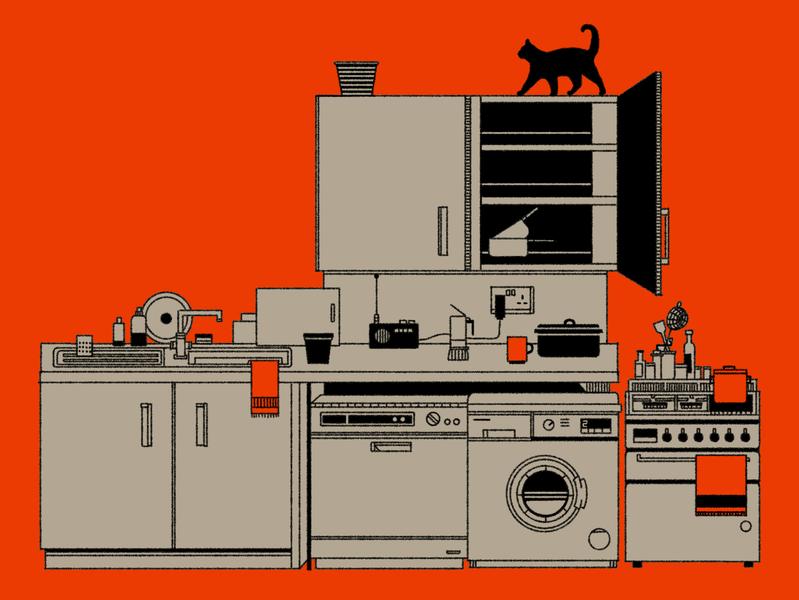 Interior Illustration / Kitchen