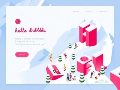 Hello,Dribbble! hellodribbble uiux design illustration