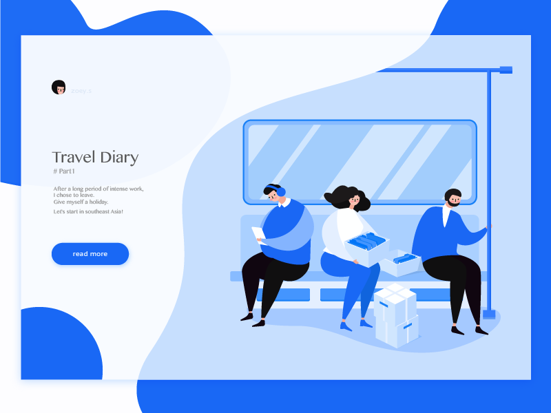 Travel Diary travel uiux design illustration