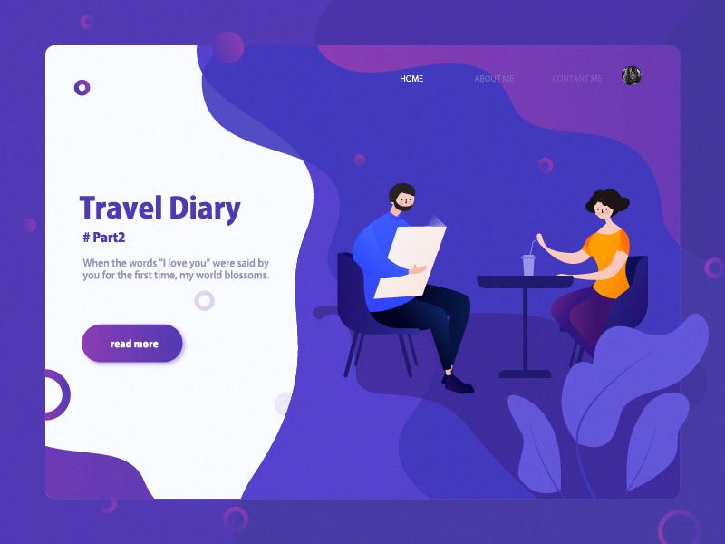 Trivel Draiy 2 uiux design travel illustration